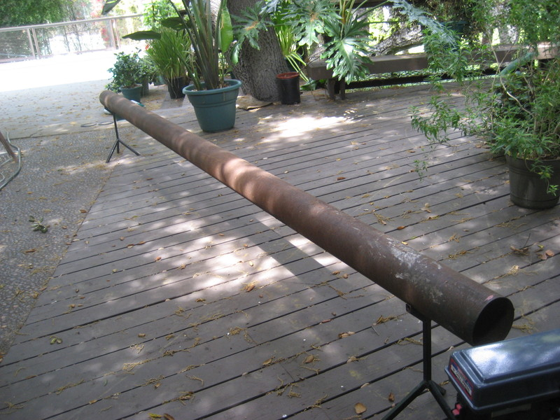 Steel Tube in the backyard